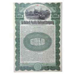 La Dicha & Pacific Railroad Co., 1906 Issued 6% Gold Coupon Bond.