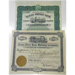 Texas Short Line Railway Co., 1901-1902 Stock and Bond Certificates