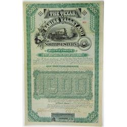 Texas, Sabine Valley & Northwestern Railway Co., 1888 Issued Bond