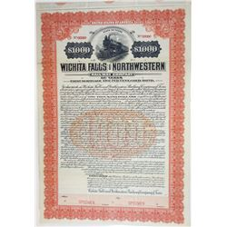 Wichita Falls & Northwestern Railway Co. of Texas, 1907 Specimen Bond