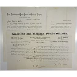 American & Mexican Pacific Railway Co. are Entitled to Shares in the Texas, Topolobampo & Pacific Ra