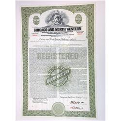 Chicago and North Western Railway Co., 1939 Specimen Bond