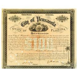 City of Pensacola, 1853 Cancelled Bond