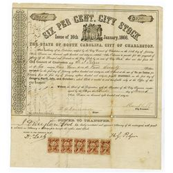 State of South Carolina, 1866 Issued Bond