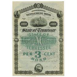 State of Tennessee Settlement Bond, 1883 Specimen Bond.