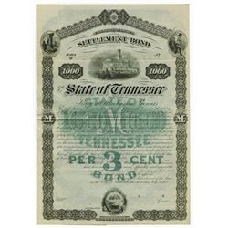 State of Tennessee Settlement Bond, 1883 Specimen Bond.