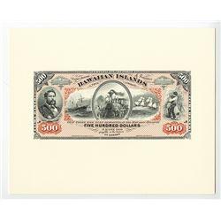 Kingdom of Hawaii, 1879 Silver Certificates of Deposit Proprietary Proof Souvenir Cards Set.