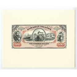 Kingdom of Hawaii, 1879 Silver Certificates of Deposit Proprietary Proof Souvenir Cards Set.