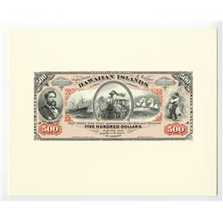 Kingdom of Hawaii, 1879 Silver Certificates of Deposit Souvenir Cards Set.