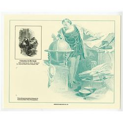 ABN Souvenir Cards, All are Columbus in his Study 1992 Reprint, Lot of 43.