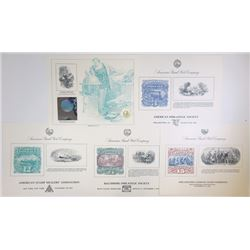 ABNC/American Philatelic Society Souvenir Cards, 1991-1992, Lot of 16