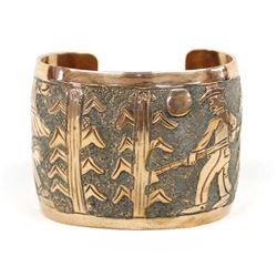 Large Navajo Copper Storyteller Bracelet, Becenti