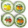 Image 2 : 12 Vintage Enamelware Bowls, Fruit Motif