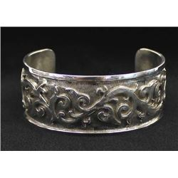 Native American Navajo Sterling Bracelet, Frances
