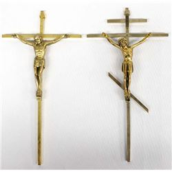 Pr Estate Brass Wall Hanging Crosses