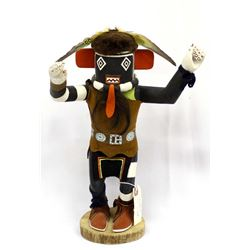 Hopi Left Handed Kachina by A. Nuvayouma