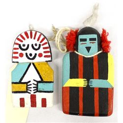 2 Native American Hopi Flat Kachinas