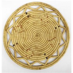 Beautiful Northwest Coast Coiled Flat Basket