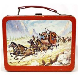Rare 1963 Thermos Brand Stagecoach Metal Lunchbox