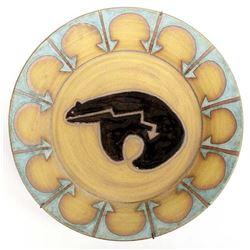 Southwestern Medicine Bear Stoneware Pottery Bowl