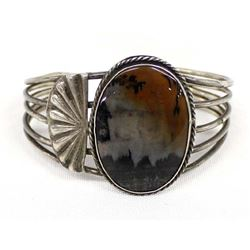 Vintage Navajo Sterling and Agate Bracelet