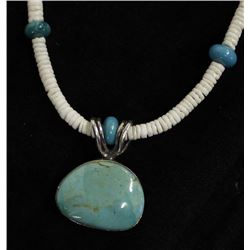 Santo Domingo Heishi & Turquoise Bead Necklace