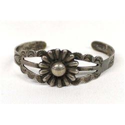 Vintage Navajo Route 66 Coin Silver Bracelet