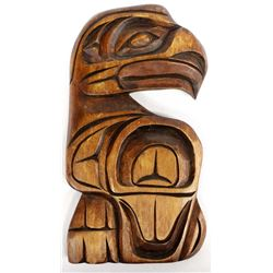 1970's Northwest Coast Tlingit Carved Wood Plaque