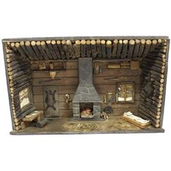 Antique Log Cabin Diorama