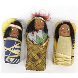 3 Vintage Skookum Baby Doll Mailers