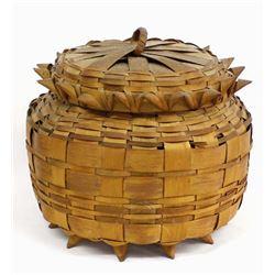 Penobscot Porcupine Lidded Basket