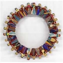 Guatemalan Worry Doll Circular Wall Hanging