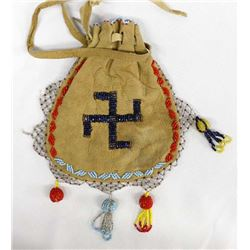 Vintage Native American Woodlands Beaded Purse