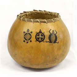 Mimbres Designed Gourd Art