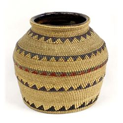 Northwest Coast Beaded Pottery Jar