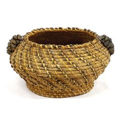 Native American Coushatta Pine Needle Basket