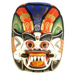 Balinese Hanuman Carved Wood Mask