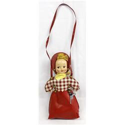 Vintage Child's Celluloid and Vinyl Cowgirl Purse