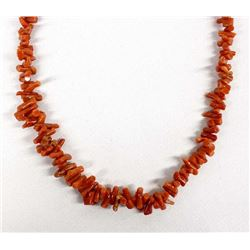 Native American Navajo Red Coral Necklace