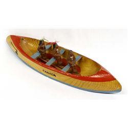 Vintage Canadian Tourist Souvenir Wood Canoe