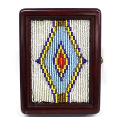 Hand Beaded Photo Album Frame by Kills Thunder