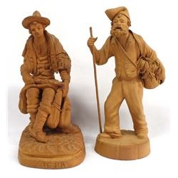 Vintage Italian Terracotta Pottery Figurines