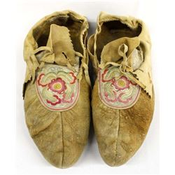 Vintage Native American Ojibwa Men's Moccasins