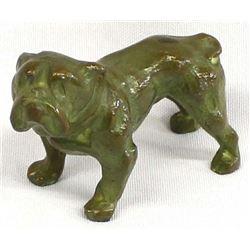 Small Bronze English Bulldog