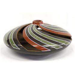 Unusual Nicaraguan Ceramic Vase by E. Maldonado