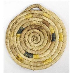 Native American Hopi Coiled Flat Basket