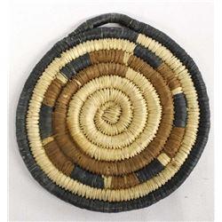 Native American Hopi Coil Flat Basket