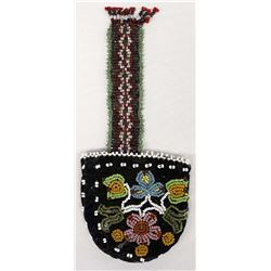Native American Micmac Beaded Pocket Watch Pouch