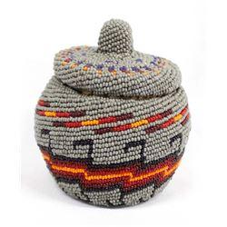 Native American Paiute Beaded Basket