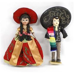 Pair of Vintage Mexican Composition Dolls